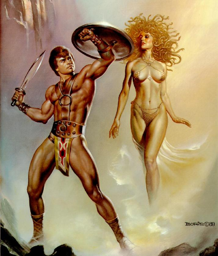 Perseus defeats Medusa
