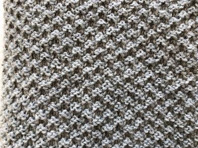 Double moss stitch, knitting, babyblanket, babytæppe, strik, let at strikke