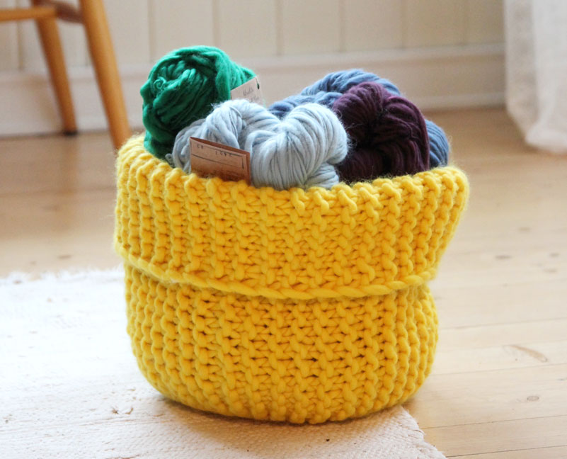 Knitting Basket Yarn : Miss julia s patterns free baskets boxes
