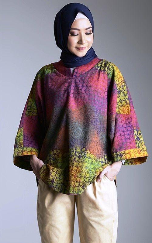 ff 25 model baju batik atasan untuk wanita muslimah modern