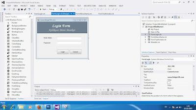 Cara Membuat Koding Logout Aplikasi Mini Market VB 2012