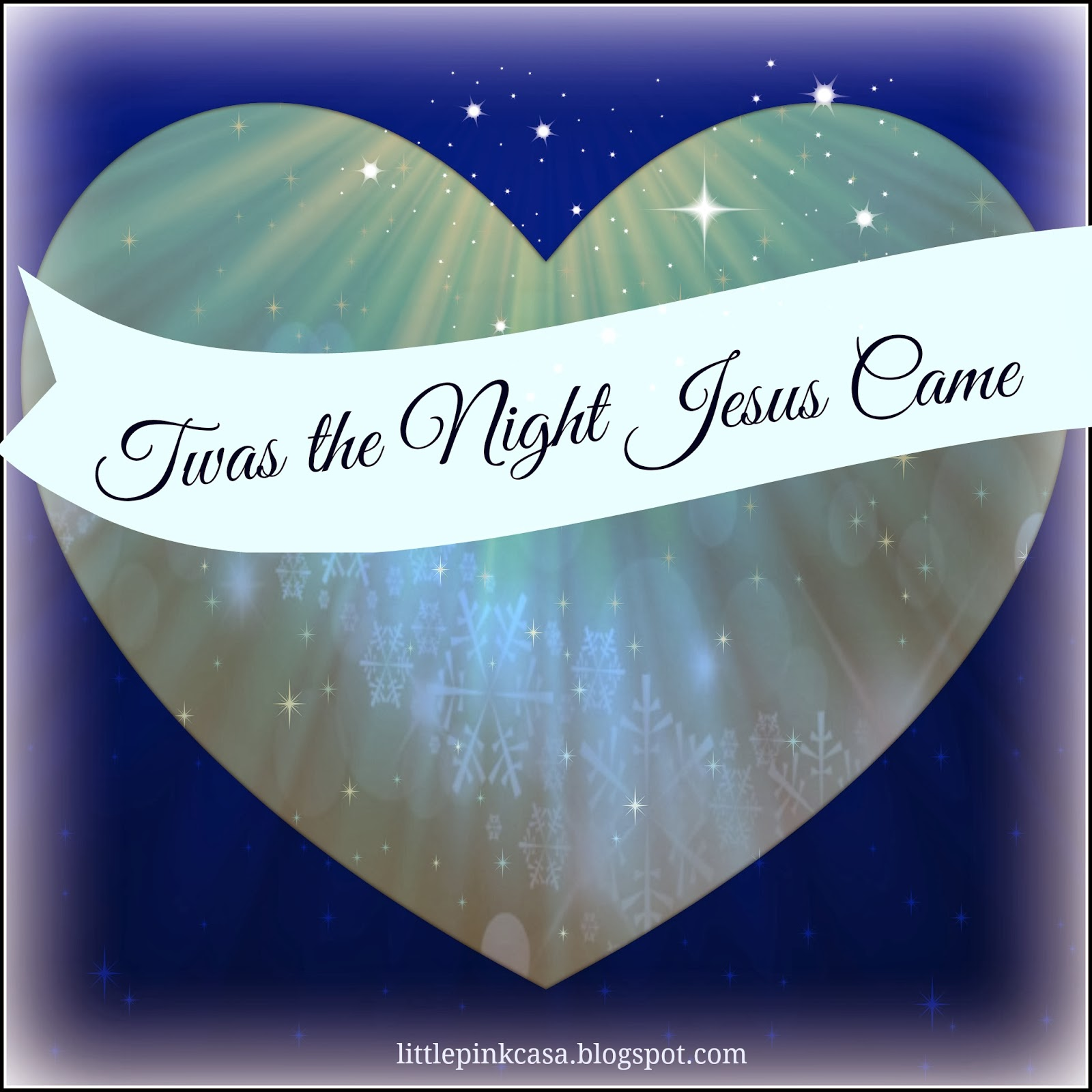picture relating to Twas the Night Before Jesus Came Printable named Twas the Evening Jesus Arrived Poem Small crimson casa