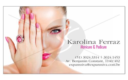 cartao de visita manicure mulher - Cartões de Visita para Manicure e Pedicure