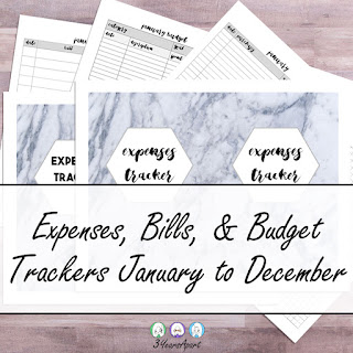 3 Years Apart Expense, Bill, Budget, Finance Trackers Free Printable