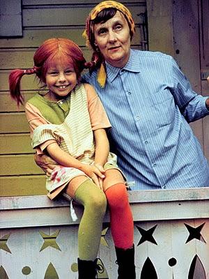 Astrid Lindgren und Pippy Langstrumpf