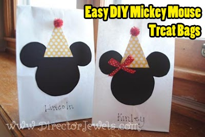 Purchased Goody Bags So I Came Up With A Pretty Easy Plan And Managed To Assemble My Mickey Minnie Mouse In Just Of Hours