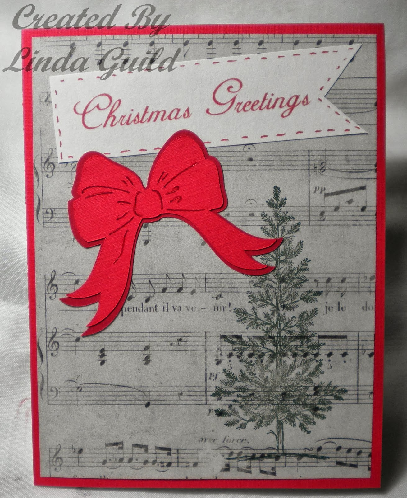 Nothin\' Fancy: Music Paper Christmas Card