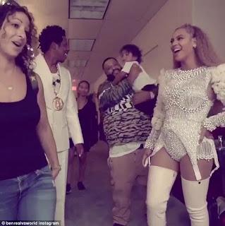 Beyonce & Jay-Z Hang With DJ Khaled And Son Backstage - Image ~ Naijabang