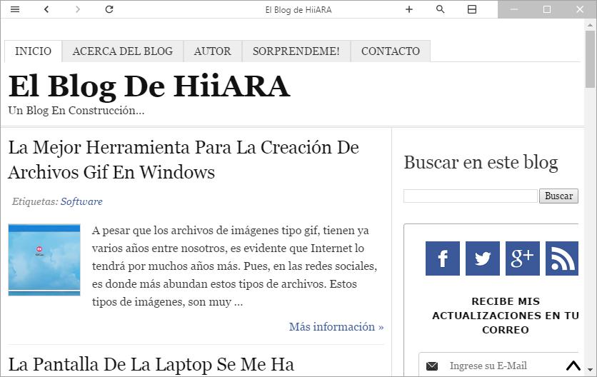 Colibri navegador moderno sin pestañas - El Blog de HiiARA
