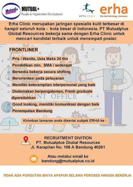 Lowongan Kerja Frontliner di Bandung