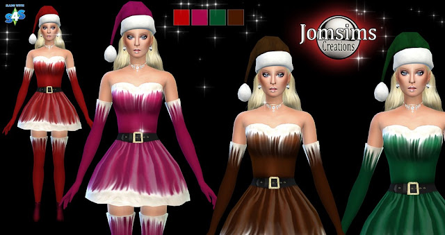 Traje de Mamá Noel para descargar desde la página web de Jomsims Creations