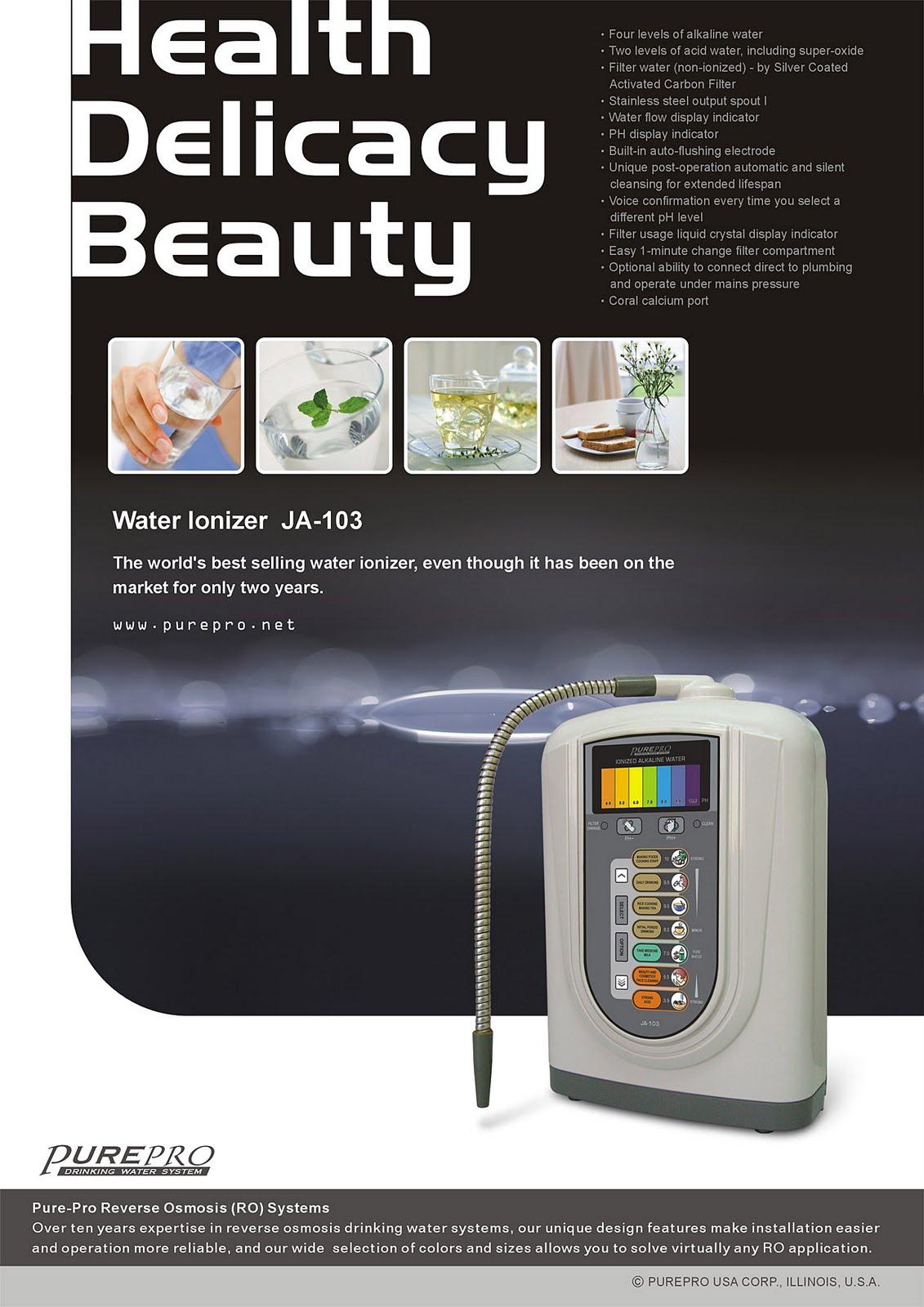 PurePro USA Water Ionizer JA-103