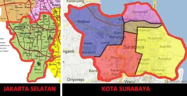 Jakarta Selatan vs Surabaya