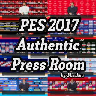 PES 2017 Authentic Press Room European Teams by Mirukuu
