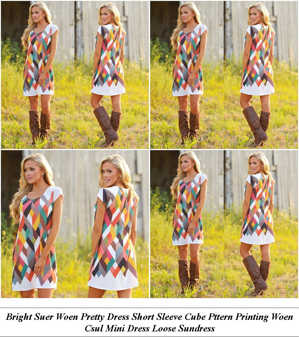 Womens Clothing Usa Online - Online Shopping Sale Today - Lack And White Color Lock Summer Dresses