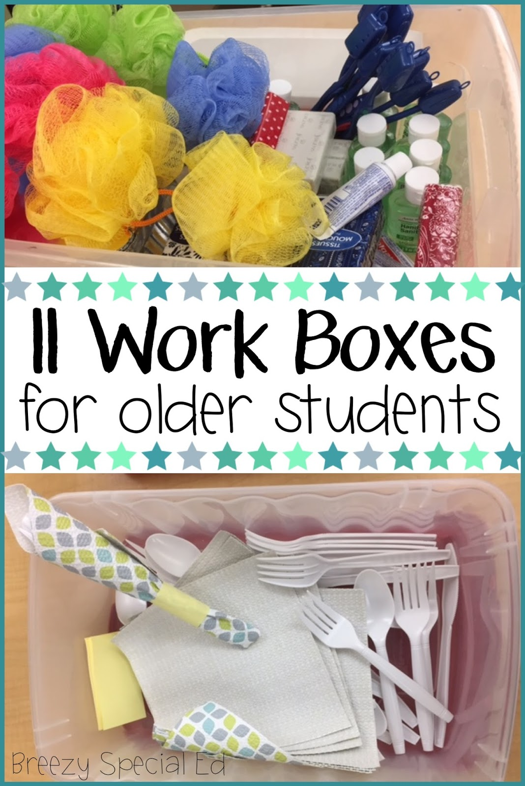 new work task boxes for special ed breezy special ed