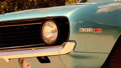 1969 Chevrolet Camaro SS 396 Sport Coupe Head Light & Emblem