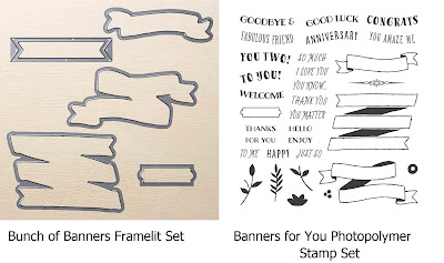 Stampin'UP!'s Bunch of Banners Framelits and Banners for You Stamp Set