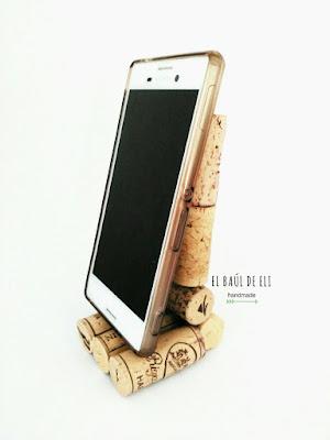 soporte móvil, corchos, winecork, ideas con corchos, diy, handmade