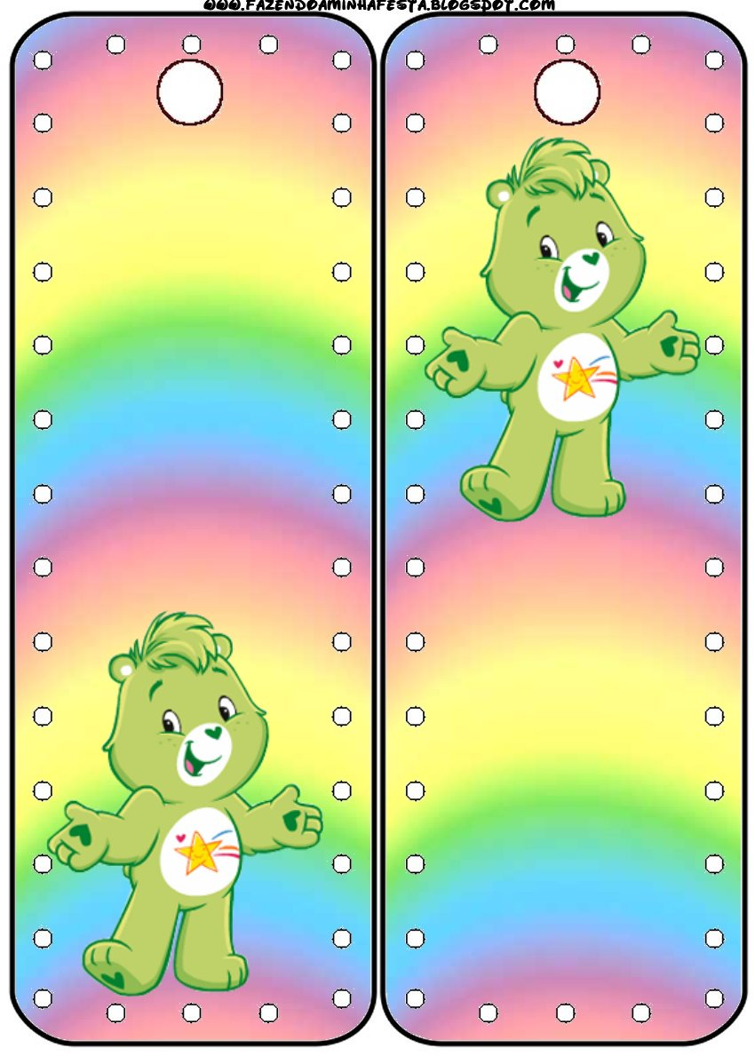 7x5ft Customized care bears theme Birthday Party backdrop add Name  1st Fiesta