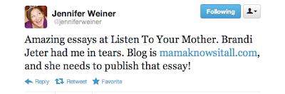 jennifer weiner, listen to your mother