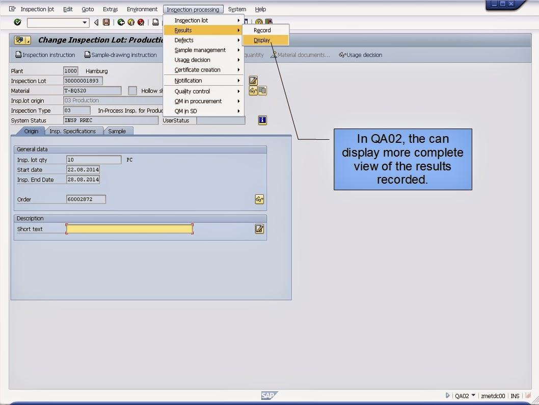 青蛙SAP分享 Learning & Examination: SAP ERP QM Inspection