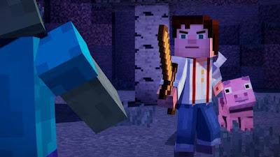 تجربة العبة حرب ميني كرافت Minecraft Story Mode Episode 6