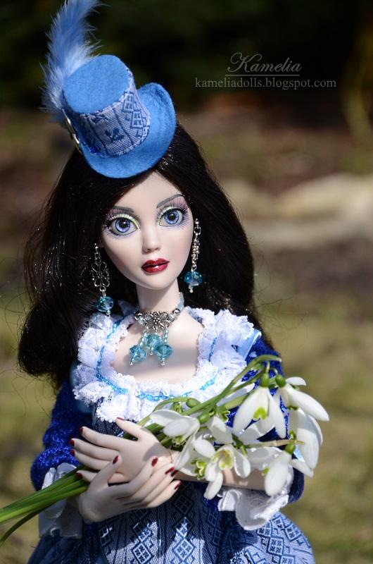 Blue dress for Evangeline Ghastly