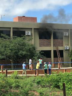 Incêndio atinge laboratório da UFCG de Cuité na manhã desta sexta