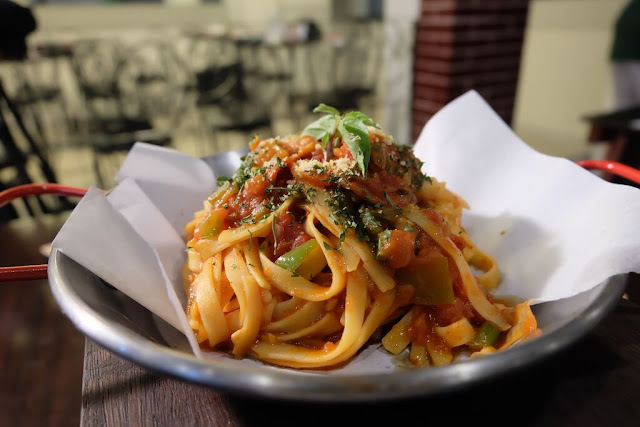 Red sauce pasta of North Wing in Maginhawa
