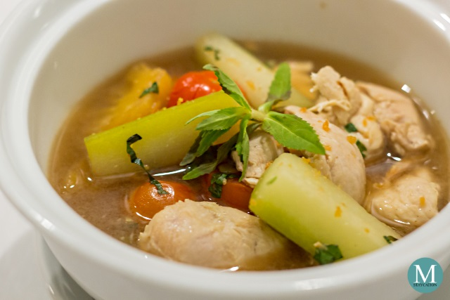 Cambodian Chicken Sour Soup at The Dining Room, Park Hyatt Siem Reap