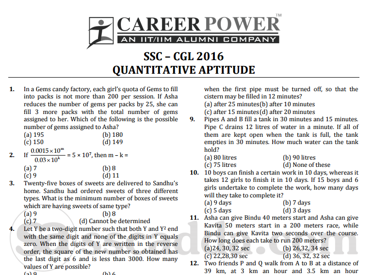 Ssc Cgl Maths Pdf