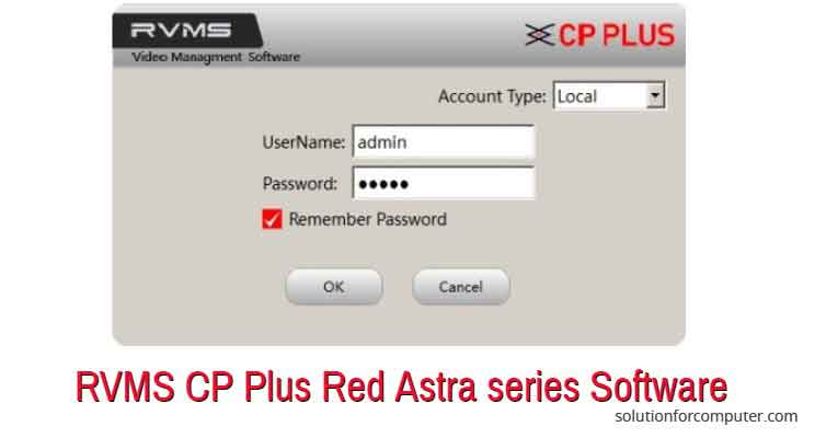 RVMS CP Plus Red Astra series DVR software for PC