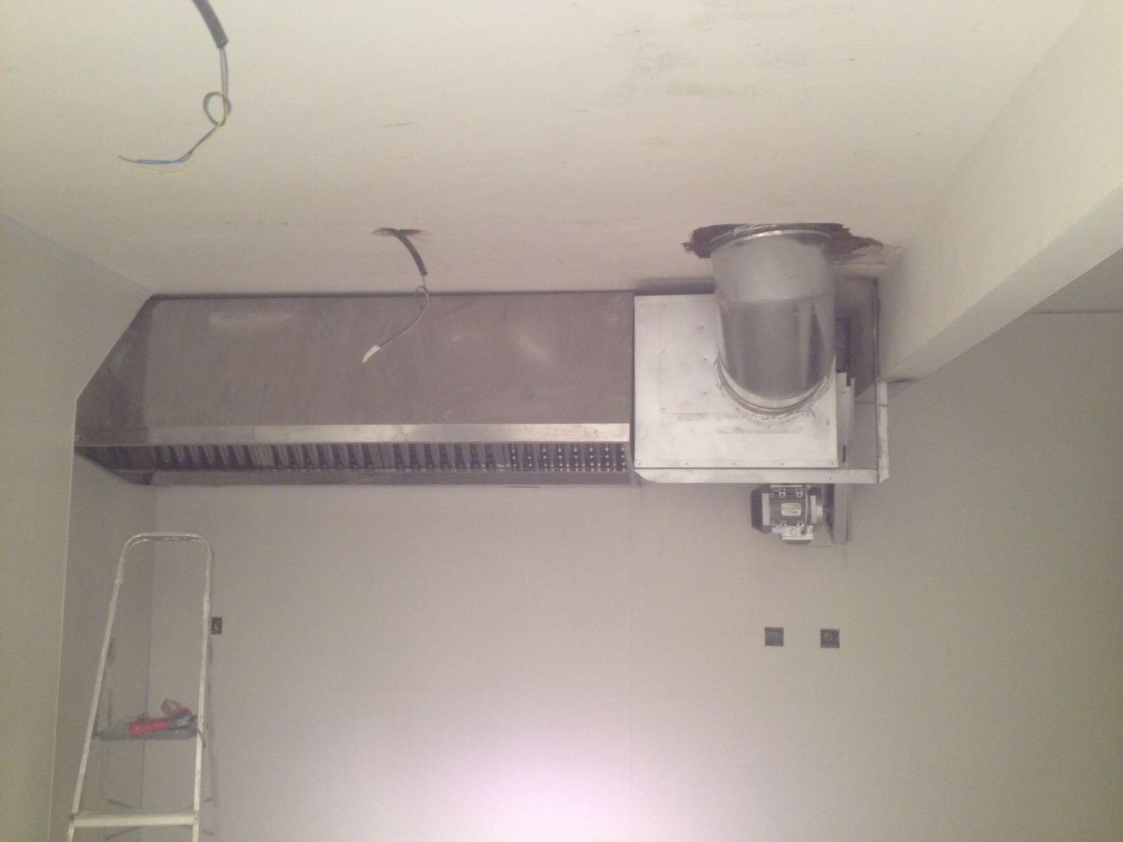 Salida de gases humos y aire de locales talleres taller de chapa bares restaurantes - Extractor humos cocina ...