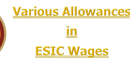 Various Allowances in ESIC Wages