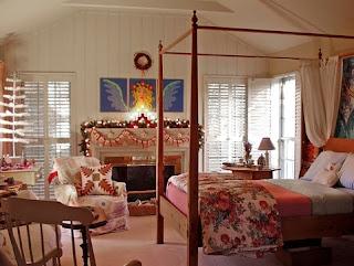 habitación de navidad
