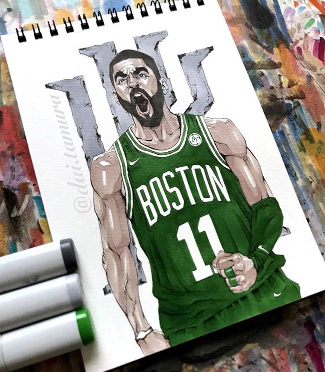 Yellowmenace: NBA Basketball Art Collection 2018