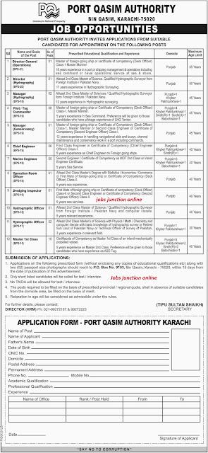 Port Qasim Authority Latest Jobs 2019 in Karachi