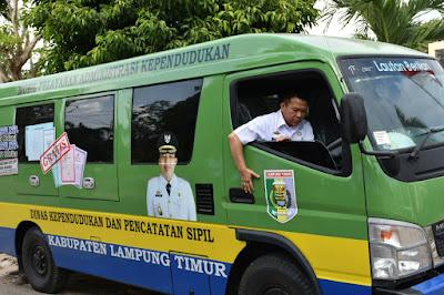 Disdukcapil Lampung Timur Luncurkan Mobil Pelayanan Administrasi Kependudukan