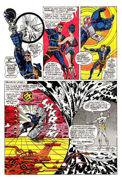Strange Tales v1 #167 nick fury shield comic book page art by Jim Steranko