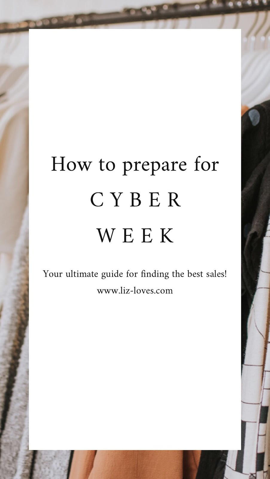 How to Prepare for CYBER WEEK