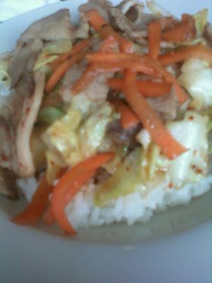 Yakiniku Don (Grilled Meat Rice Bowl)