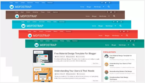 MDFostrap Responsive Blogger Template
