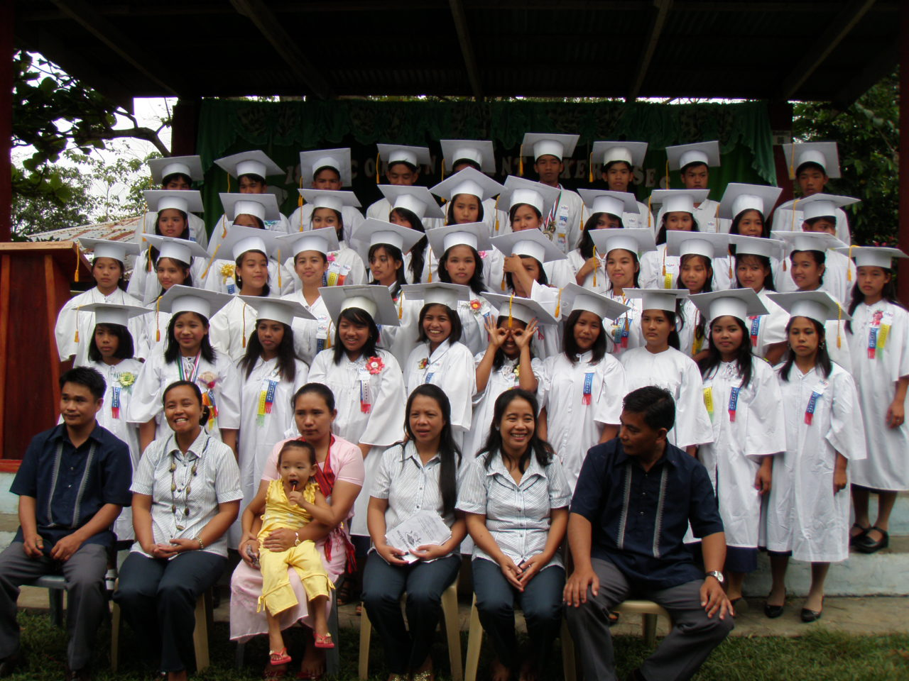 School High The Graduation In Villages Of My Philippines Philippines