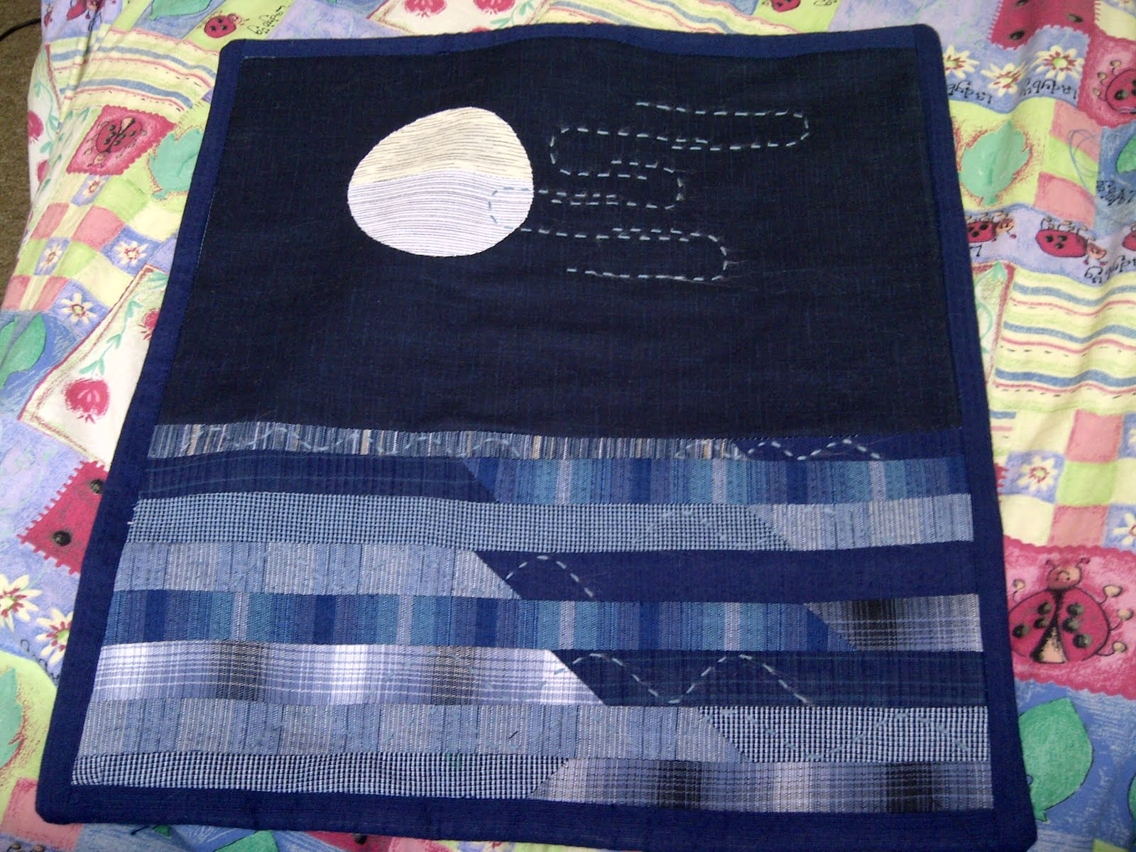 Make Do And Gem Japanese Quilted Wall Hanging Finished