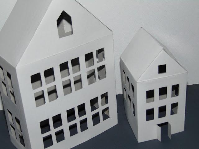 lantern houses paper DIY