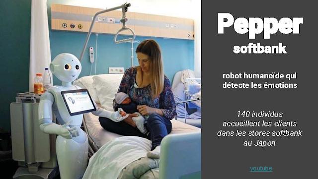 Pepper le robot d'accueil Softbank
