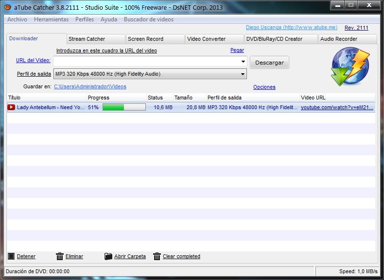 como usar atube catcher 3.8 para descargar musica mp3