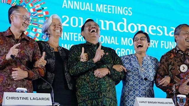 Pose 1 Jari di IMF-WB, Luhut-Sri Mulyani Terancam Dilaporkan