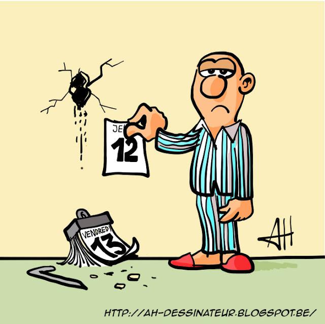 Vendredi 13 dessin d'humour